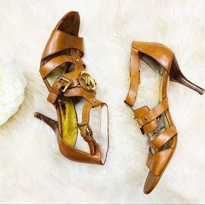Michael Kors | tan straps heels 8.5